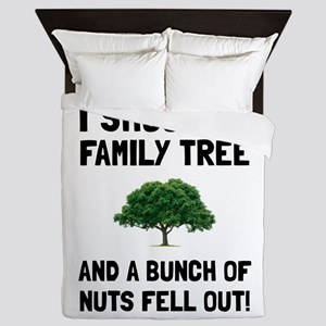 Family Tree Nuts Queen Duvet