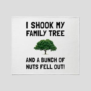 Family Tree Nuts Throw Blanket