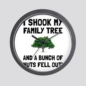 Family Tree Nuts Wall Clock