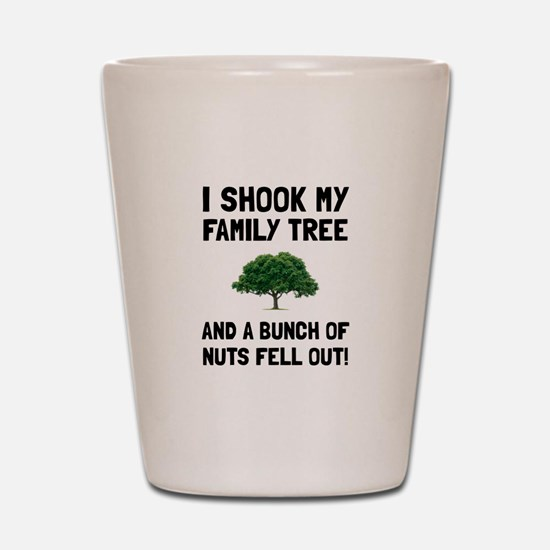 Family Tree Nuts Shot Glass