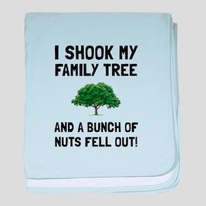 Family Tree Nuts baby blanket