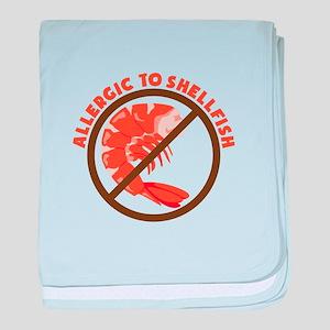 Allergic To Shellfish baby blanket