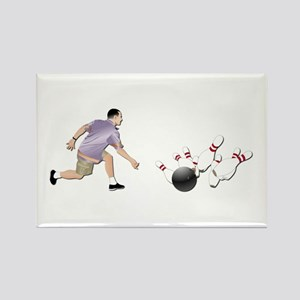 Sports - Bowling - No Txt Rectangle Magnet