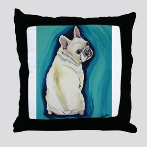 White French Bulldog Throw Pillow