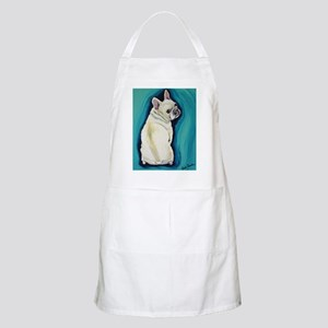 White French Bulldog Apron