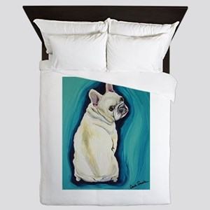 White French Bulldog Queen Duvet