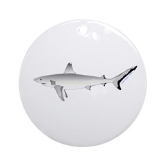 Grey Blacktail Reef Shark Ornament (Round)