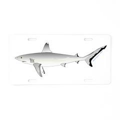 Grey Blacktail Reef Shark Aluminum License Plate