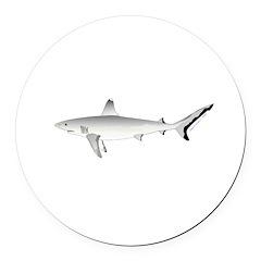 Grey Blacktail Reef Shark Round Car Magnet