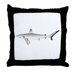 Grey Blacktail Reef Shark Throw Pillow