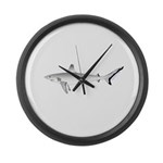 Grey Blacktail Reef Shark Large Wall Clock