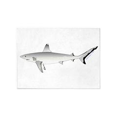 Grey Blacktail Reef Shark 5'x7'Area Rug