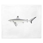 Grey Blacktail Reef Shark King Duvet