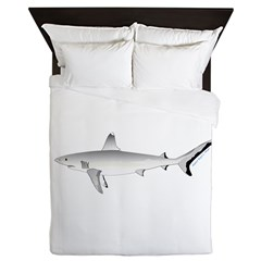 Grey Blacktail Reef Shark Queen Duvet