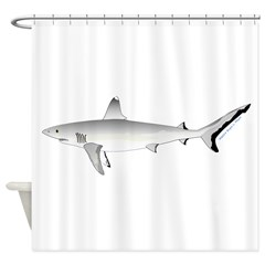Grey Blacktail Reef Shark Shower Curtain
