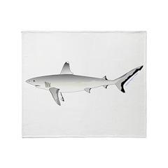 Grey Blacktail Reef Shark Throw Blanket