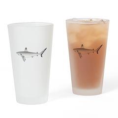 Grey Blacktail Reef Shark c Drinking Glass