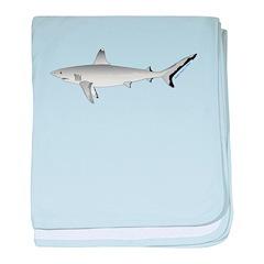 Grey Blacktail Reef Shark c baby blanket