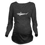 Grey Blacktail Reef Shark c Long Sleeve Maternity