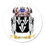 Forrestal Round Car Magnet