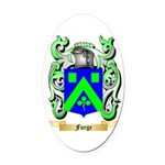 Forge Oval Car Magnet