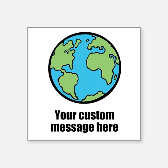 Make your own custom earth message Sticker