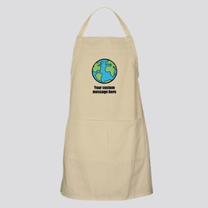 Make your own custom earth message Apron