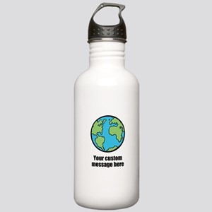 Make your own custom earth message Water Bottle