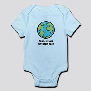 Make your own custom earth message Body Suit