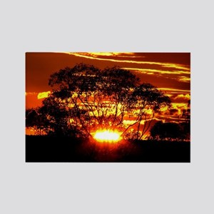 Golden Sunset Rectangle Magnet