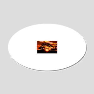 Golden Sunset 20x12 Oval Wall Decal