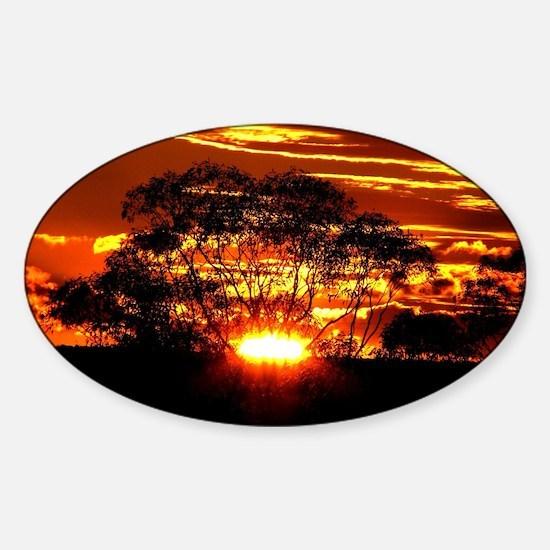 Golden Sunset Sticker (Oval)