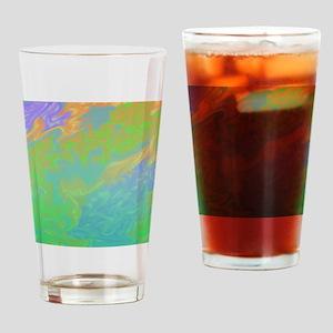 Colorful Green Blue Art Splash Drinking Glass
