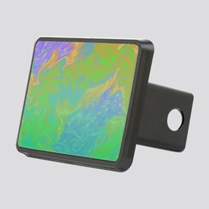 Colorful Green Blue Art Sp Rectangular Hitch Cover