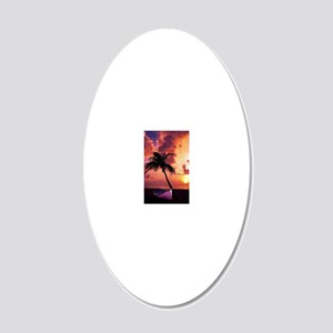 Sunset with Boot 20x12 Oval Wall Decal