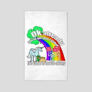 Take back the rainbow 3'x5' Area Rug