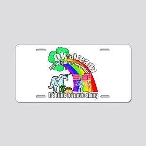 Take back the rainbow Aluminum License Plate