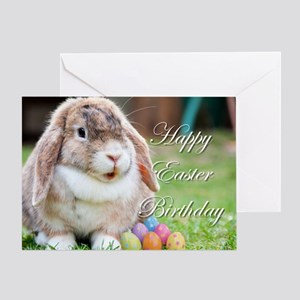 Happy Easter Birthday Bunny Greeting Card