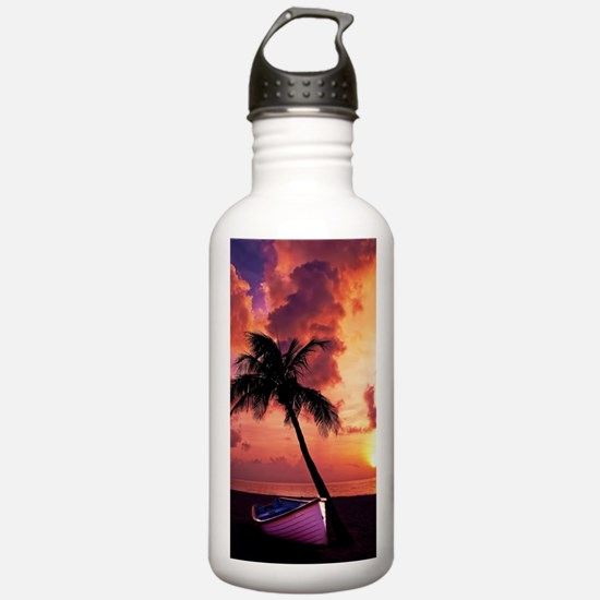 Sunset with Boot Water Bottle