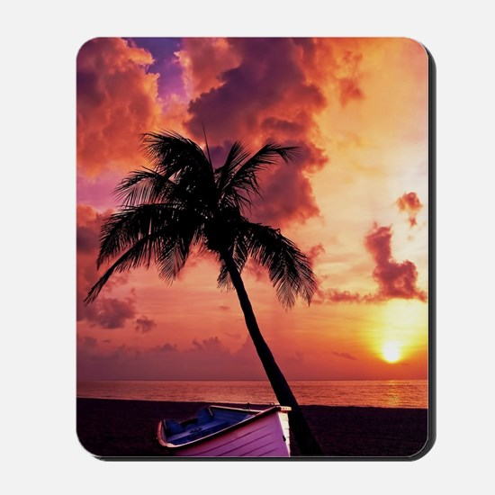 Sunset with Boot Mousepad