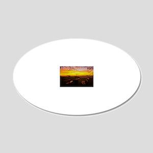 Wonderful Sunset 20x12 Oval Wall Decal