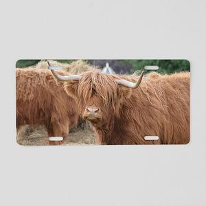 Cute Highland Cow Aluminum License Plate
