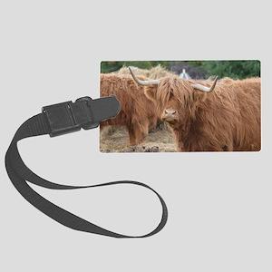 Cute Highland Cow Large Luggage Tag