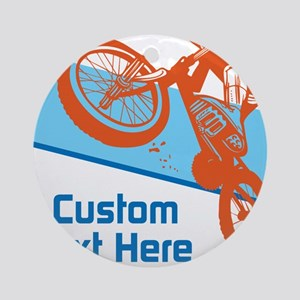 Custom Motocross Bike Design Ornament (Round)
