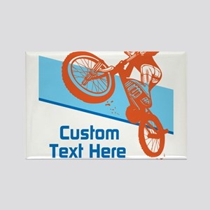 Custom Motocross Bike Design Magnets