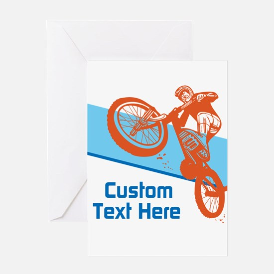 Custom Motocross Bike Design Greeting Cards