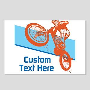 Custom Motocross Bike Design Postcards (Package of