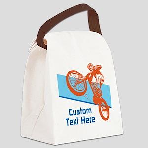 Custom Motocross Bike Design Canvas Lunch Bag