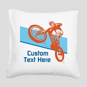 Custom Motocross Bike Design Square Canvas Pillow