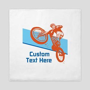 Custom Motocross Bike Design Queen Duvet